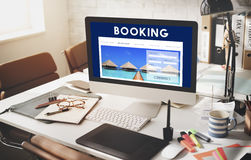 Holiday Reservation Website Interface Concept.  Royalty Free Stock Image