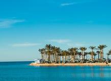 Holiday resort. At the sea Royalty Free Stock Photography