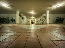 Holiday resort apartment outside hallway Stock Photos