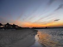 Holiday Resort Beach Sunset Royalty Free Stock Photography