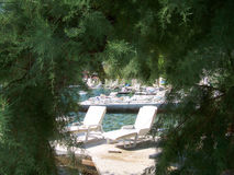 Holiday resort in Croatia. Wild rocky beach full of pine trees in Croatia Stock Image