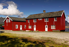 Holiday resort, Kabelvag village, Lofoten Stock Image