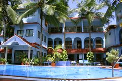 Holiday resort in kovalam, kerala Royalty Free Stock Photos