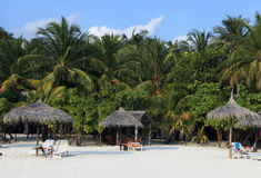 Holiday resort in the Maldives Royalty Free Stock Photography