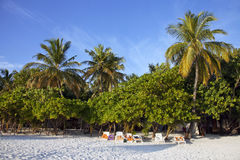 Holiday resort in the Maldives Royalty Free Stock Image