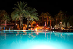 Holiday resort at night time Stock Images
