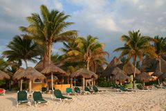 Holiday Resort in Playa del Carmen - Mexico Stock Photo