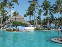 Holiday resort  with pool Stock Photography