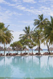 Holiday resort at a tropical beach Royalty Free Stock Photos