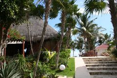 Holiday Resort in Tulum Beach - Mexico Royalty Free Stock Photography