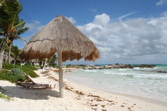 Holiday Resort in Tulum Beach - Mexico. Holiday Resort  in Tulum - Mexico, South of Cancun Stock Photo