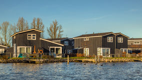 Holiday resort on the waterfront of lake Stock Photos