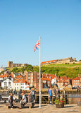 Holiday resort of Whitby. Whitby, a holiday resort and fishing port on the north east coast of England Royalty Free Stock Photography