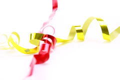Holiday ribbon. The set of holiday ribbon royalty free stock images