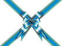 Holiday Ribbon. Ribbon and bow wrapped around a rectangle like a present Royalty Free Stock Images