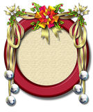 Holiday ribbon-bell frame Royalty Free Stock Photos