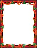 Holiday Ribbon Frame Royalty Free Stock Photos