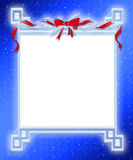 Holiday Ribbon Frame. Large digital made holiday ribbon frame Royalty Free Illustration