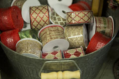 Holiday ribbon for gift and decorating Royalty Free Stock Images
