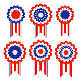Holiday ribbon rosettes Stock Photo