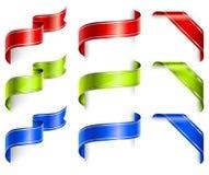 Holiday ribbons Stock Photography