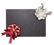 Holiday ribbons over chalkboard Royalty Free Stock Photo