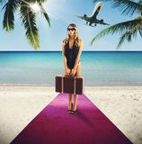 Holiday  of rich tourist Royalty Free Stock Photo