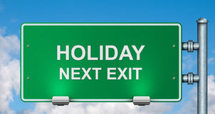 Holiday road sign Royalty Free Stock Photography