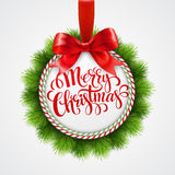 Holiday round frame. Christmas balls. Vector Stock Images