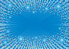 The holiday's background. This background will decorate any winter holiday. The initial file *.cdr has colour palette CMYK that does its suitable for the press Stock Image