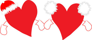 Holiday's hearts Royalty Free Stock Image