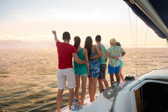 Holiday on a sailing yacht. Royalty Free Stock Photo