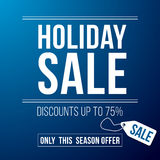 Holiday sale ad designed in a modern flat style Stock Photos