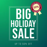 Holiday sale ad designed in a modern flat style Stock Image