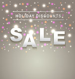 Holiday Sale background. Cute Holiday Sale background sample Royalty Free Stock Image