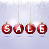 Holiday Sale Balls Royalty Free Stock Photography