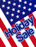 Holiday Sale Banner. With the american flag as a background. vector file also available stock illustration