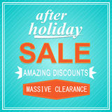 After Holiday Sale Banner with light blue Stock Photography
