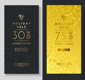 Holiday sale banner templates Royalty Free Stock Image