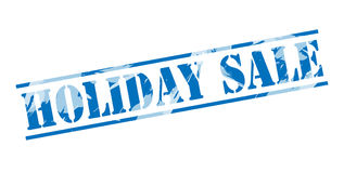 Holiday sale blue stamp. Isolated on white background Royalty Free Stock Photography