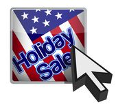 Holiday sale button and cursor arrow Royalty Free Stock Photos
