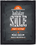 Holiday sale chalkboard. Royalty Free Stock Image