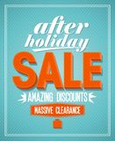 After holiday sale design. Royalty Free Stock Photography