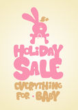 Holiday sale design template. Royalty Free Stock Photo