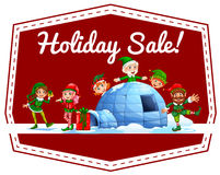 Holiday sale label Stock Photo