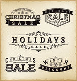 Holiday Sale Labels Royalty Free Stock Image