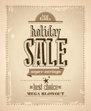 Holiday sale in newspaper retro style. Stock Images