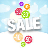 Holiday Sale Percent Stock Photography