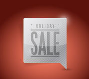 Holiday sale pin pointer sign illustration Royalty Free Stock Images