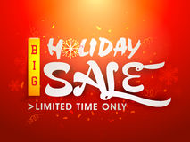 Holiday Sale poster, banner or flyer design. Stock Photography